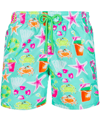 Men Classic Printed - Men Swim Trunks 1982 Jeux De Plage, Lagoon front