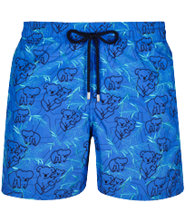 Men 017 Embroidered - Men Embroidered Swimwear Sydney - Limited Edition, Sea blue front
