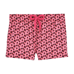 Girls Shorties Printed - Micro Turtles Hawaï Straight cut shortie, Pink front