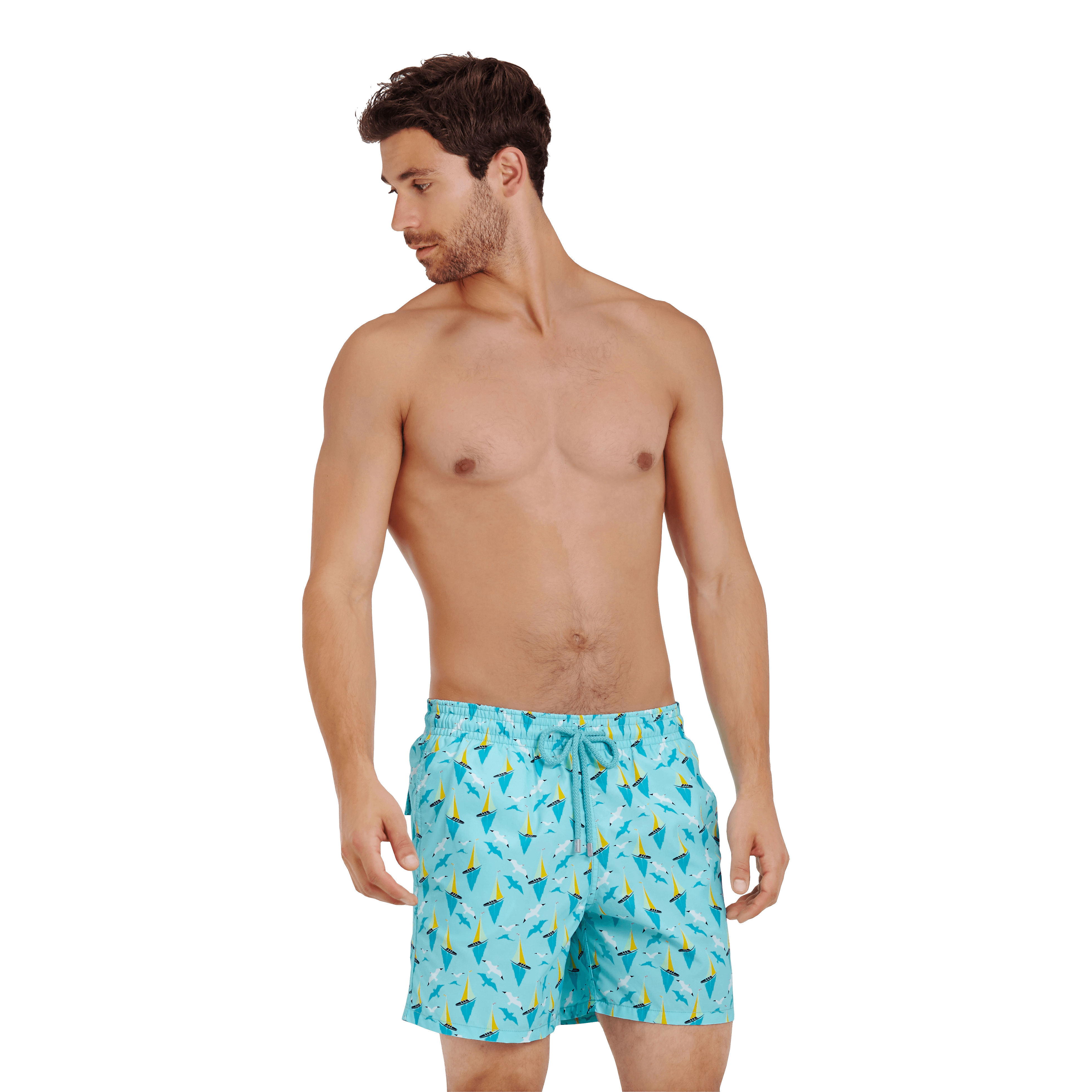 Vilebrequin Men Swimwear Bateaux Sur L'eau In Blue