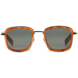 Sunglasses Solid - Kahki mono Sunglasses, Brown front