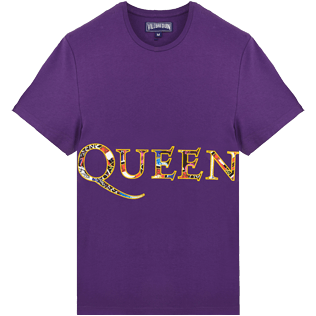 Men Others Printed - Men Cotton T-Shirt Queen Tour, Reddish purple front