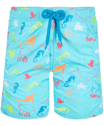 Boys Others Embroidered - Boys Swim Trunks Embroidered 1999 Focus - Limited Edition, Lazulii blue front