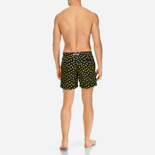 Men Embroidered Embroidered - Men Swimtrunks Embroidered Mini Fish - Limited Edition, Black backworn