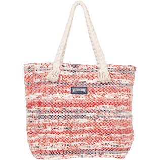AUTRES Imprimé - Grand Sac de plage Uni Eco-friendly, Rouge front