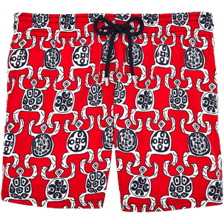 Men Stretch classic Printed - Primitive Turtles Superflex Swim shorts, Poppy red front