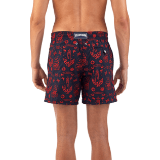 Men Embroidered Embroidered - Tattoo Embroidered Swim shorts, Navy supp3