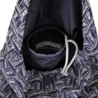 Others Embroidered - Oversize embroidered foldable bag Vilebrequin Labels, Navy supp1