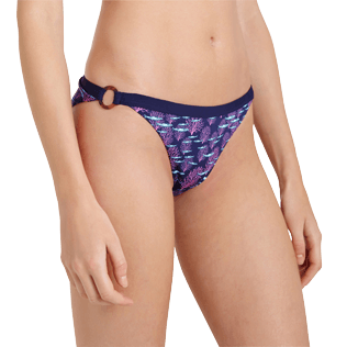 Women Classic brief Printed - Women Midi Brief Bikini Bottom Coral & Fish, Navy supp1