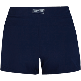 Women Others Solid - Women Stretch swim short Solid, Navy back