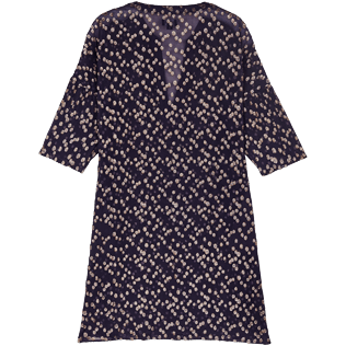 Women Others Graphic - Women Beach Cover-up Golden Plumetis, Midnight blue back