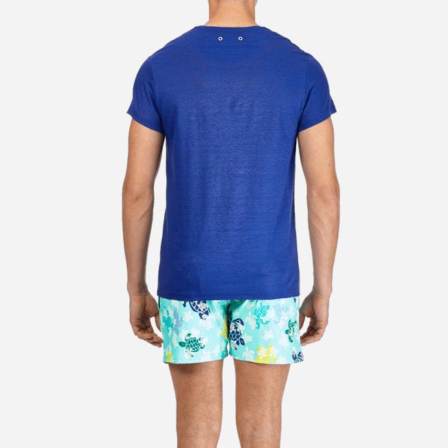 Vilebrequin - Camiseta de lino lisa para hombre - 6