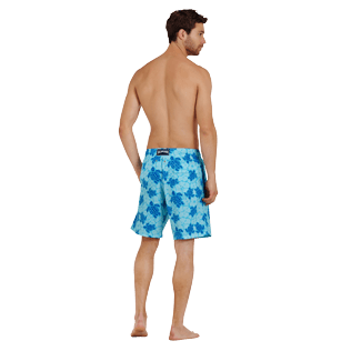 Men Long classic Printed - Men Swimwear Long Stretch Tortues Hawaï - Web Exclusive, Celestial backworn
