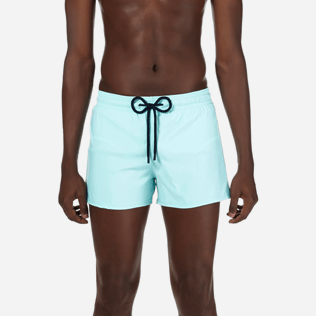 Men Short classic Solid - Men Short and Fitted Stretch Swimwear Solid, Lagoon supp1