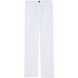 Women Others Solid - Women Linen Pants Solid, White front