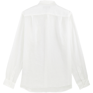 Men Others Solid - Men Linen Shirt Solid, White back