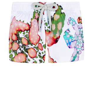 Others Printed - Baby swimshort  Watercolor Turtles, White front