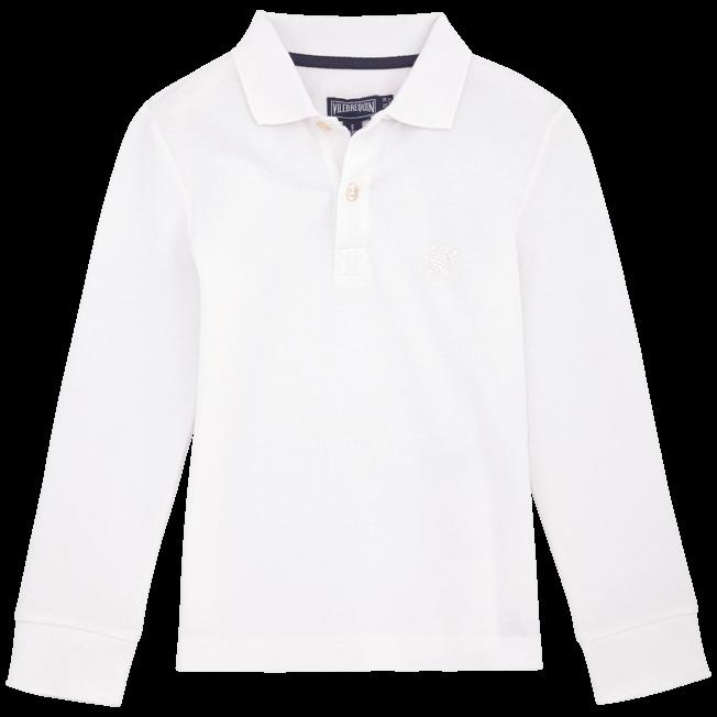 Vilebrequin - Polo en piqué de coton manches longues Uni - 1