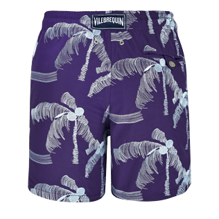 Men Embroidered Embroidered - Men Swimtrunks Embroidered Palmiers - Limited Edition, Amethyst back