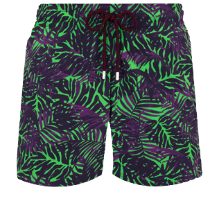Men Stretch classic Printed - Men Stretch Swim Trunks Madrague, Grass green front