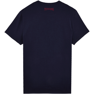 Men Others Printed - Men Cotton T-Shirt Vilebrequin Tour, Navy back