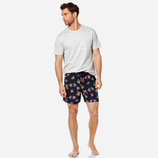 Men Classic Printed - Men Swim Trunks Over the Rainbow Turtles, Black supp2