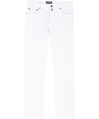 Men Others Solid - Men White 5-Pocket Jeans Slim Fit, White front