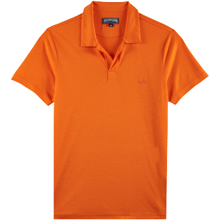 Men Others Solid - Men Tencel Polo Shirt Solid, Apricot front