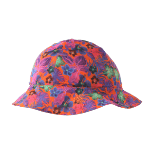 Others Printed - Kids Cotton Voile Hat Porto Rico, Bright orange front