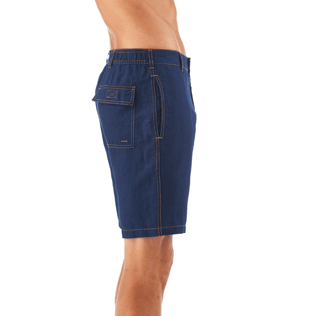 Men Shorts Solid - Indigo Straight bermuda, Indigo supp1