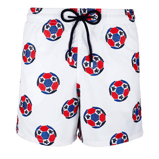 Men Embroidered Embroidered - Men Swimwear Embroidered Soccer Turtles - Limited Edition, White front