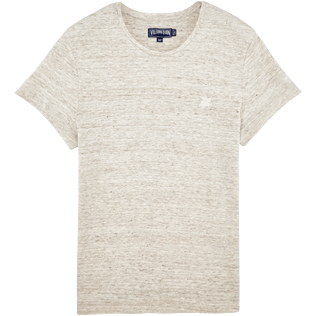 Men Others Solid - Men Linen Jersey T-shirt Solid, Heather grey front