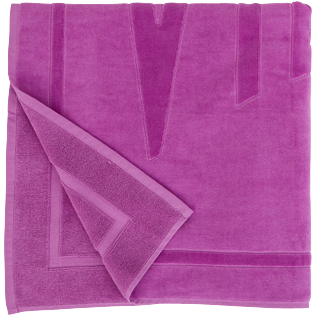 Others Solid - Beach Towel Jacquard Solid, Orchid back