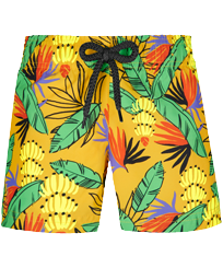 Girls Others Printed - Girls Swim Short Go Bananas, Curry front