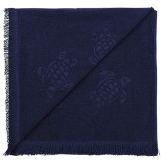 Others Solid - Beach Fouta Towel Solid, Navy back