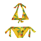 Girls Others Printed - Girls Two Pieces Swimsuit Go Bananas, Curry front