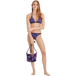 Women Classic brief Printed - Women Midi Brief Bikini Bottom Coral & Fish, Navy supp2