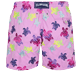 Men Classic / Moorea Embroidered - Men Swim Trunks Embroidered Ronde des Tortues Aquarelle - Limited Edition, Pink berries back