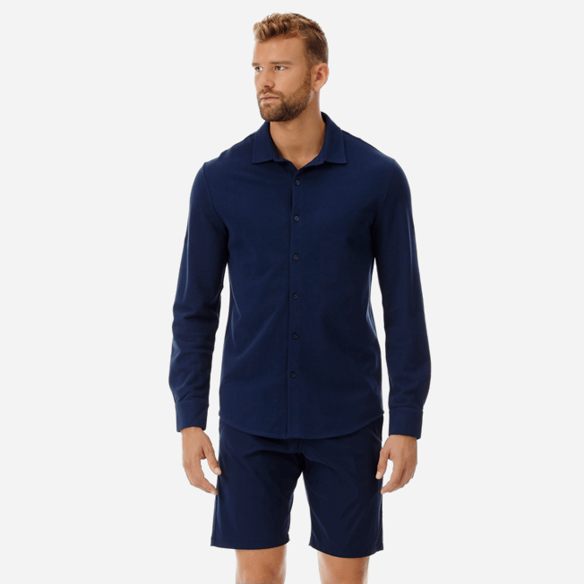 Vilebrequin - Men Cotton Pique Shirt Massimo Vitali - 3