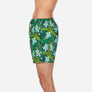 Men Classic Printed - Men Swimtrunks Starlettes & Turtles Vintage, Malachite green supp3