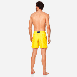 Men Classic Solid - Men swimtrunks Solid, Citron backworn