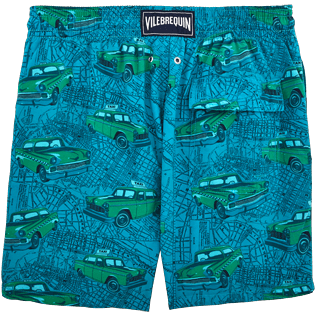 Men Classic / Moorea Printed - Dip Dye Taxis Swim shorts, Prussian blue back