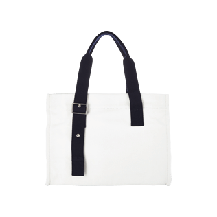 Others Solid - Small Solid Cotton beach bag, White back