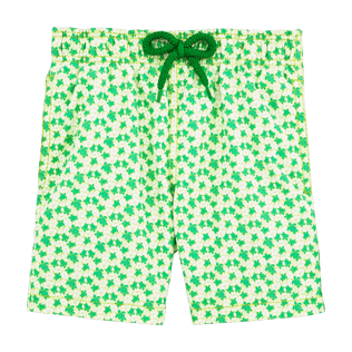 Boys Others Printed - Micro Turtles Hawaï Swim Shorts, Veronese green front