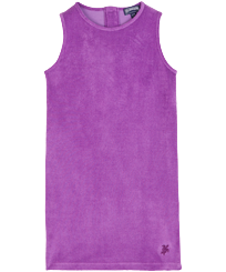 Girls Others Solid - Girls Terry Cloth Dress, Orchid front