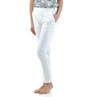 Women Pants Solid - Solid Skypants, White supp2