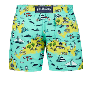 Boys Others Printed - Boys swimtrunks Martha's Vineyard, Mint back