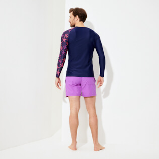 Uomo Altri Stampato - Rash guard uomo Starfish Dance, Zaffiro backworn