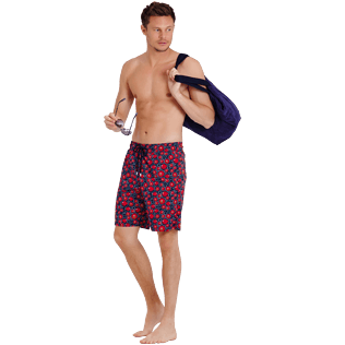 Men Long classic Printed - Men Swimwear Long Stretch Crackers, Navy supp2