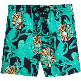 Men Classic Printed - Octopussy et Coquillages Swim shorts, Navy front
